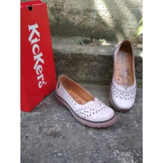 Beli Flat Shoes Kickers Women Full White Point Cicilan