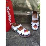 Beli Sepatu Sandal Wanita Kickers Full White Triangle Online