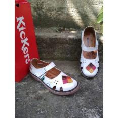Toko Sepatu Sandal Wanita Kickers Full White Triangle Terlengkap