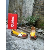 Review Kickers Women Yellow Half Multicolor Leather