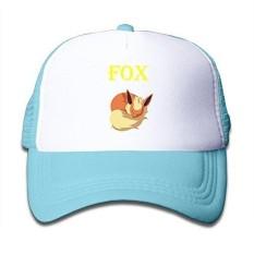 Gambar Kartun untuk Anak-anak Tidur Fox Trucker Mesh Topi Bisbol Topi Topi Trucker Berwarna Merah Muda-Internasional