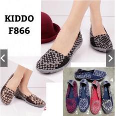 Kiddo Flat F866 Box Original Sepatu Rajut Anyam Promo Beli 1 Gratis 1