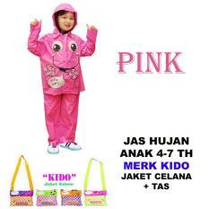 Kido Jas Hujan Anak Motif Gambar Lucu - Pink