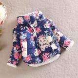Promo Anak Anak Gadis Bunga Mantel Jaket Musim Dingin Tebal Top Pinggang Pakaian Mantel Navy Intl