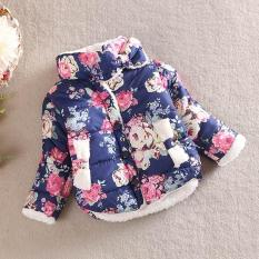Jual Anak Anak Gadis Bunga Mantel Jaket Musim Dingin Tebal Top Pinggang Pakaian Mantel Navy Intl Di Bawah Harga