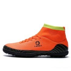 Anak-anak Sepatu Futsal Indoor Football Sepatu untuk Sock Football Boots Boys TF Turf Soccer Cleat Pelatihan Sneakers-Intl
