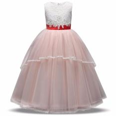 Kids Girl Elegan Kontes Gaun Ulang Tahun Girls Gaun Putri Menari Pesta Remaja Girl Pakaian Resmi Acara Panjang Gaun-Intl