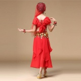 Harga Anak Anak Girls Belly Dance Pakaian Kostum India Dance Clothes Top Rok Intl Seken