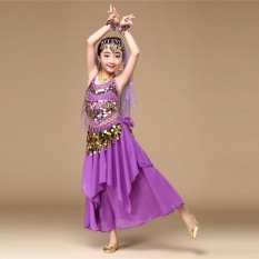 Dimana Beli Anak Anak Girls Belly Dance Pakaian Kostum India Dance Clothes Top Rok Intl Not Specified