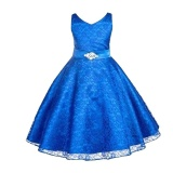 Beli Anak Gadis Sleeveless Tutu Gaun Prom Pesta Gaun Ulang Tahun Putri Gaun Dengan Sabuk Intl Yang Bagus