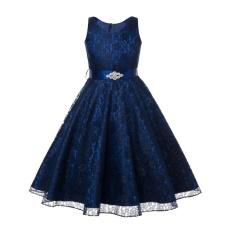 Kualitas Anak Gadis Sleeveless Tutu Gaun Prom Pesta Gaun Ulang Tahun Putri Gaun Dengan Sabuk Intl Oem