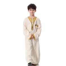 Anak-anak Kaftan Abaya Boy Jubba Islam Jubah Muslim Jubba Thobe Pakaian Islam Pakaian Pakaian Muslim Pria Gaun Islam # CL170913C01 [putih]-Intl