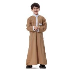 Anak-anak Kaftan Abaya Boy Jubba Islam Jubah Muslim Jubba Thobe Pakaian Islam Pakaian Pakaian Muslim Pria Gaun Islam # CL170913C02 [Unta]-Intl