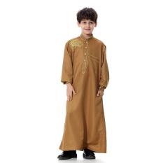 Anak-anak Kaftan Abaya Anak Laki-laki Jubba Islam Jubah Muslim Jubba Thobe Pakaian Islam Pakaian Pakaian Muslim Pria Gaun Islam # CL170913C03 [Unta]-Internasional