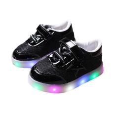 Kids LED Sepatu Kets Colorful Lampu Berkedip Sepatu Kasual Pria-EUR Ukuran: 26-Intl
