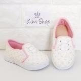 Harga Kim Sepatu Anak Slip On Loafer Perempuan Mcp2 Putih Pink Kim Original