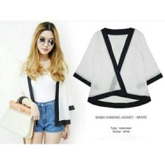 Harga Blessshopping Best Seller Outer Kimono White Asli Bless