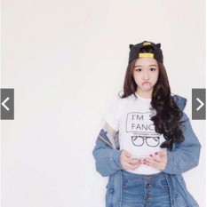 king_fashion kaos pendek putih im so fancy