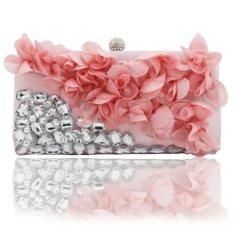 Spesifikasi Kingluck Flower Design Satin And Silk Women Wedding Brial Clutch Bag Evening Handbags More Colors Intl Oem