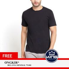 Kingsman Kaos Pria Premium Polos - Plain T-Shirt Distro Black