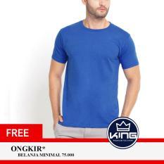 Kingsman Kaos Pria Premium Polos - Plain T-Shirt Distro Blue Benhur