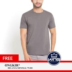Kingsman Kaos Pria Premium Polos - Plain T-Shirt Distro Grey