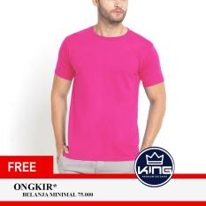 Kingsman Kaos Pria Premium Polos - Plain T-Shirt Distro Light Pink