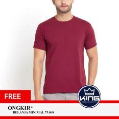 Kingsman Kaos Pria Premium Polos - Plain T-Shirt Distro Maroon