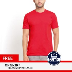 Kingsman Kaos Pria Premium Polos - Plain T-Shirt Distro Red