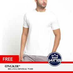 Kingsman Kaos Pria Premium Polos - Plain T-Shirt Distro White