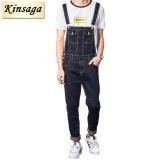 Beli Kinsaga Men S Ukuran Lebih Kasual Pocket Vintage Overall Denim Hitam 4Xl 3Xl Slim Jumpsuits Celana Ripped Jeans Untuk Pria Intl Nyicil
