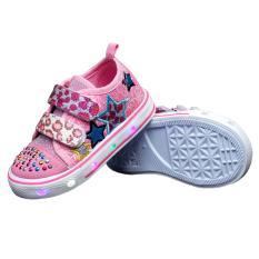 Review Kipper Tipe Osaka Sepatu Lampu Anak Perempuan Merah Muda Terbaru