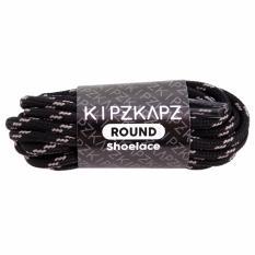 KipzKapz RS25 Black Grey 115cm - Tali Sepatu Bulat / Round Shoelace