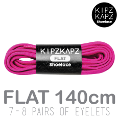 KipzKapz Shoelace - Berry Purple 140cm - Tali Sepatu Pipih / Flat 8mm