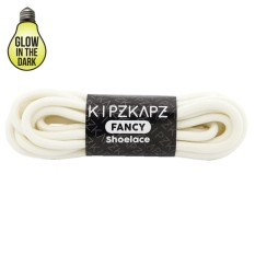 KipzKapz XS20 White Glow In The Dark 140cm - Tali Sepatu Bulat / Round Shoelace