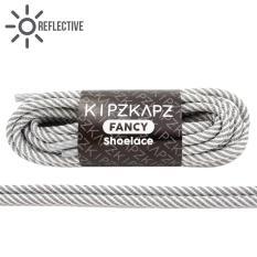 Ulasan Lengkap Tentang Kipzkapz Xs22 Reflective White Twist 115Cm Tali Sepatu Bulat Round Shoelace