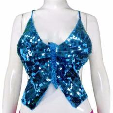 Kira Bra Senam Belly Dance / Bra Olahraga Belly Dance Tbl02-Blu, Allsize - Biru By Kirana Sports.