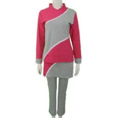 Kira Sports Baju Senam Muslim Wanita / Baju Olahraga Muslim Wanita ALE3010217-Pnk, XXL - Merah Muda