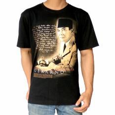 Harga Kirangan Kaos Tokoh Pahlawan Nasional Soekarno D Hitam Termahal