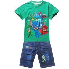 Spesifikasi Kisnow 2 10 Tahun Boys 95 135 Cm Tubuh Tinggi 2 Pieces Cotton Jeans Pant T Shirt Warna Sebagai Main Pic Intl Mikanoni Beserta Harganya