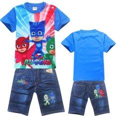 Diskon Kisnow 2 10 Tahun Boys 95 135 Cm Tubuh Tinggi 2 Pieces Cotton Shirts Pendek Jeans Celana Warna Sebagai Main Pic Intl Tiongkok
