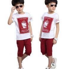 Spesifikasi Kisnow 3 16 Tahun Boys 105 165 Cm Tubuh Tinggi Katun Murni Shirt Celana Pendek Warna Sebagai Main Pic Intl Mikanoni Murah