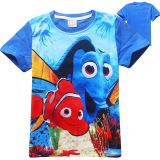 Jual Kisnow Boys 3 12 Years Old 95 145Cm Hight Boys Finding Dory Cotton T Shirts Color Blue Intl Branded Original