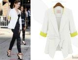 Review Kisnow Slim Korea Fashion 3 4 Lengan Jas Linen Ringan Jaket Warna Putih Intl