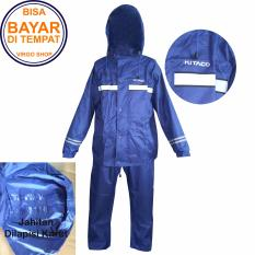 Promo Kitaco Jas Hujan Stelan Jaket Celana 2 Lapis Bahan Dan Desain Mirip Seperti Jas Hujan Axio Biru