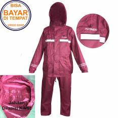 Spesifikasi Kitaco Jas Hujan Stelan Jaket Celana 2 Lapis Bahan Dan Desain Mirip Seperti Jas Hujan Axio Merah Lengkap