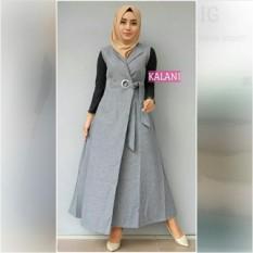 Baju wanita/Blouse/Kemeja Wanita/Jumpsuit/Playsuit Wanita/T-Shirt/Wanita/Dress Wanita/Baju Muslim/Jumpsuit/Sweater & Cardigan Wanita Baju Tidur & Santai Wanita Tunik Wanita Jaket Denim Wanita KLANI OUTER GREY