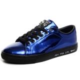 Kualitas Klywoo Fashion Sneakers Kasual Tren Pria Sepatu Flat Biru Intl Klywoo