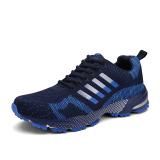 Klywoo Flywire Men Fashion Sepatu Lari Sepatu Kasual Sejuk Biru Original