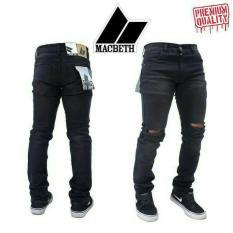 Knee Ripped-Skinny Jeans-Macbeth Premium - Bb9799